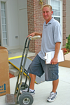 man with a hand truck